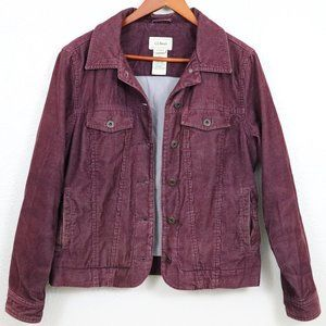 L.L.Bean | Burgundy Corduroy Jacket